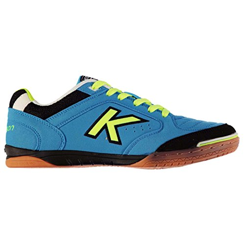 58361b20ff8 KELME Mens Precision Indoor Court Trainers Lace Up Football Sports Shoes  Turquoise Lime UK 7.5