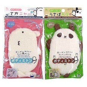 Kawaii Cute Cartoon Bath Wash Mitten (1 Mitten, Style Sent Assorted) by Daiso