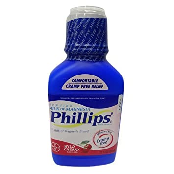 Phillips Wild Cherry Milk of Magnesia Liquid, 26-Ounce Bottles (Pack of