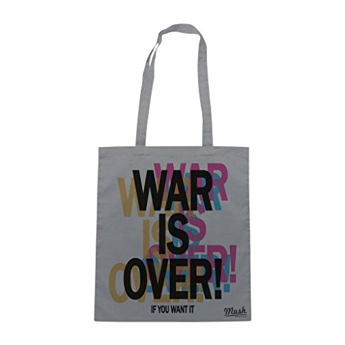 Borsa WAR IS OVER IF U WANT IT - Grigio - MUSH by Mush Dress Your Style