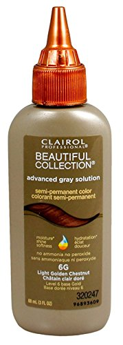Lite Solution (Clairol Beautiful Advanced Gray Solution Collection #6G Light Golden Chestnut 3 Ounce (88ml) (3 Pack))