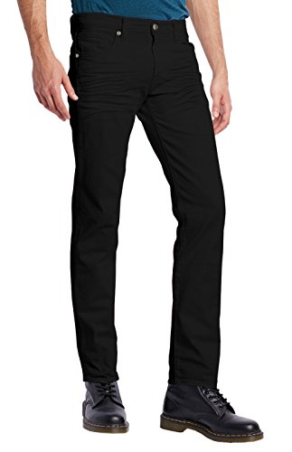 ETHANOL Mens Slim Stretch Motion Denim Jean APL26131SK PK15S Black - Manliest Men