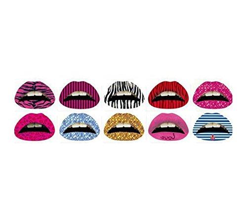 AMAZZANG-1Pc Temporary Lip Tattoo Sticker Art Transfers Lady Party Fancy Dress - And Lena Shop Lisa