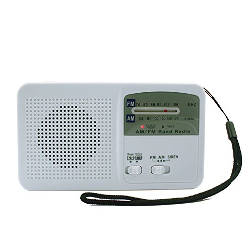 GDSZ Solar Energy Radio Emergency Mobile Phone Power Bank FM/AM Dual Band Radio W/LED Flashlight Siren Alert For (Cobra 5 Panel)