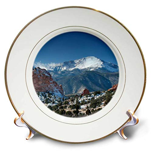 3dRose cp_38673_1 Colorado Mountains Pikes Peak-Porcelain Plate, 8-Inch