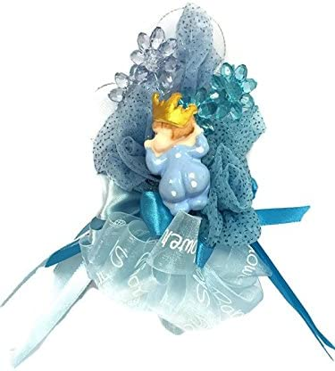 Baby Boy Prince Baby Shower Blue Corsage Mom to Be