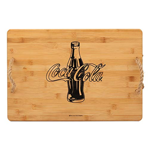 (Open Road Brands Coca-Cola Bottle Bamboo Tray)
