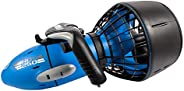 Yamaha RDS250 Seascooter with Camera Mount Recreational Dive Series Underwater Scooter, Blue/Gray, Large