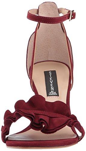 Madden Burgundy Nubuck by Dress STEVEN Vexen Steve Women's Sandal 4wEgg6qn