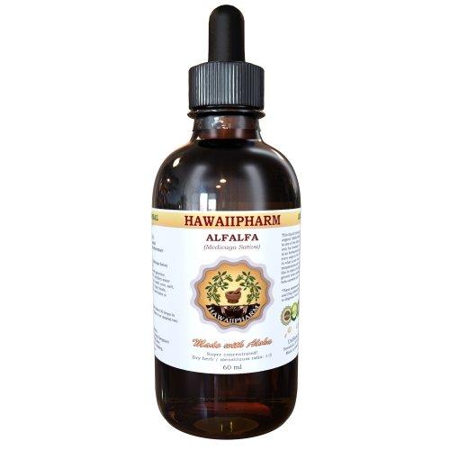 Luzerne extrait liquide, luzerne biologique (Medicago Sativa) feuilles séchées Teinture Supplément 4 oz