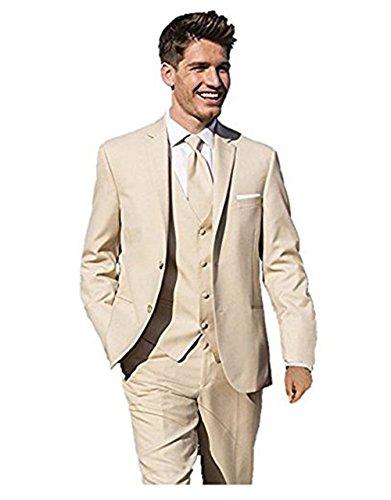 Discount Everbeauty Men's Customized Tuxedos Groom Suit Suit Blazer Jacket Tux Vest&Pants for cheap