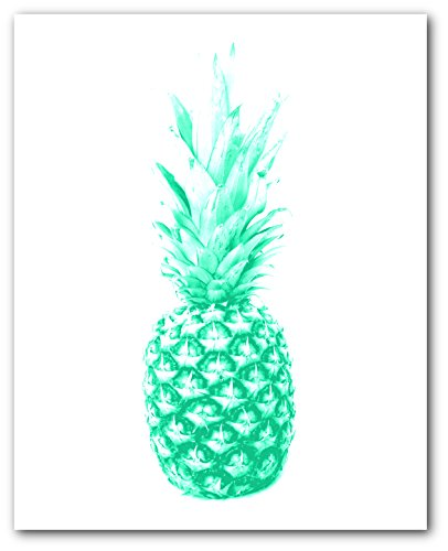 - Pineapple Print, Mint Green Pineapple, 8 x 10 Inches, Unframed