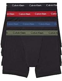 Men`s Cotton Boxer Briefs 4 Pack (Black(NP2009-935)/Olive/Bardo, X-Large)