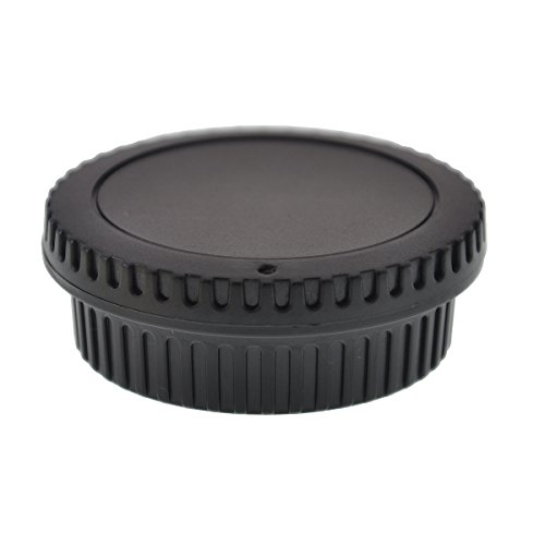 FoRapid RF-3 Replacement Body Cap & Lens Rear Cap for Canon EOS SLR Camera & Lens - 5D Mark IV, 1D, 1DS, Mark II, III, IV/1DC 1DX D60 60D 60DA (Rebel Xsi Body)
