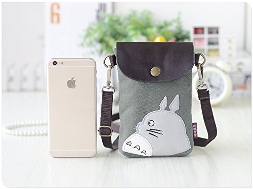 coin Abaddon Bag Wallet Canvas Bags Phone purse Cute Greem Small Crossbody Strap Purse Cell with Shoulder Totoro qAqr0O