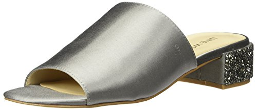 Nine West Women's Raydon Satin Luxe Loafer Flat, Light Grey, 10 Medium US (Women For Shoes Nine West Flat)