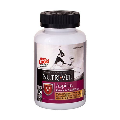 Nutri-Vet K9 Dog Aspirin for Small Dogs 100ct (Baby Aspirin Dosage For Dogs By Weight)