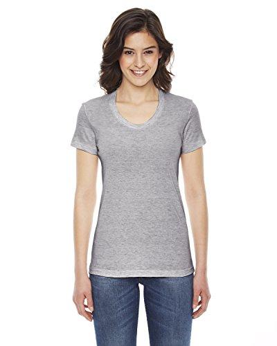 - American Apparel TR301W Ladies' Triblend Short-Sleeve Track T-Shirt Athletic Grey Xl