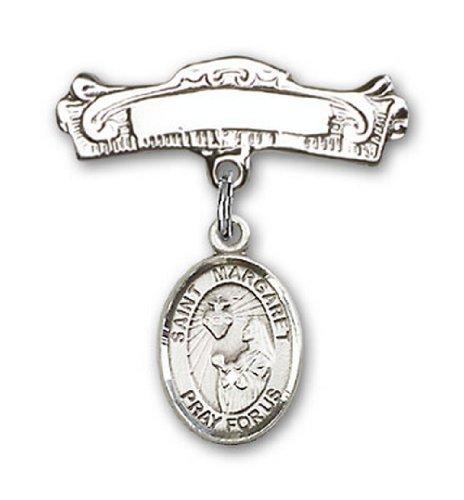 Icecarats Créatrice De Bijoux En Argent Sterling St. Marguerite-Marie Alacoque Charme Broches Badge Arc 7/8 X 7/8