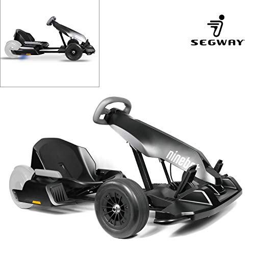 Segway Electric GoKart Kit Fitting for Ninebot S miniPRO Transporter ( Self Balancing Scooter Excluded ), Big Racing Ride on Car Toy for Kids and Adults, Custom Painted Matte Black