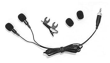 PYLE-PRO PLMS48 Dual Electret Condenser Cardioid Lavalier Microphone Sound Around