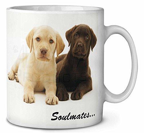 - Coffee Mugs Funny Christmas Mug Yellow Chocolate Labrador Puppies Soulmates Ceramic Mug Cup 11oz Present for Him Gift for Her