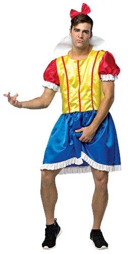 Chubby Guy Halloween Costumes (My Hairy Princess - Bro White Men's Costume, Multi, One)