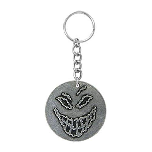 [해외]교란 된 백랍 얼굴 백랍 열쇠 고리/Disturbed Pewter Face Pewter Key Chain