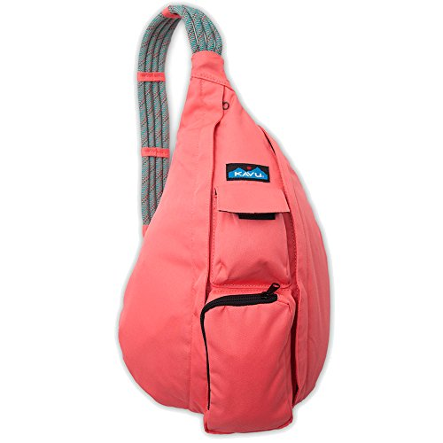 KAVU Women's Rope Sling Shoulder Bag (Polyester), Coral, One Size (Pattern Purse Sling)