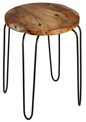 Lacie End Table with Teak Root Top For Sale