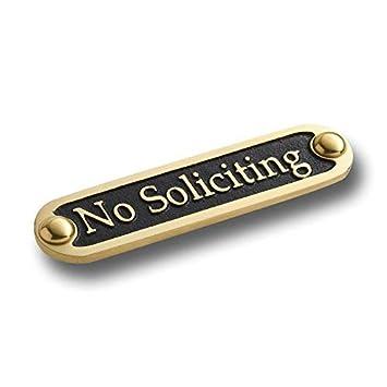 Amazon.com: Placa de puerta de latón macizo de ...