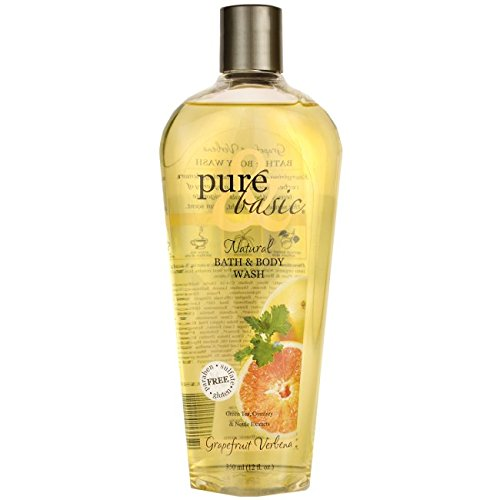 Pure & Basic Natural Bath and Body Wash Grapefruit Verbena -- 12 fl oz - Basic Grapefruit Verbena Natural