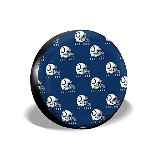 (MamaTina Custom Waterproof Tire Cover Indianapolis Colts American Football Team Unisex Spare Tire Cover for Jeep Trailer RV SUV and Many)