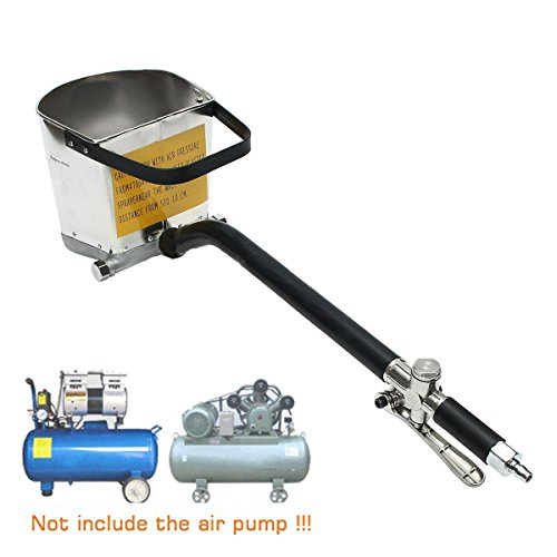 9TRADING New 4 Jet Cement Mortar Spray Gun Sprayer Hopper Concrete Stucco Paint Wall Tool, Free Tax,Delivery Within 10 Days ()