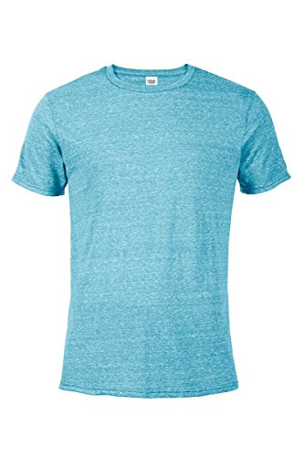Casual Garb Men's Snow Heather Fitted T Shirt Short Sleeve Crew Neck T-Shirts for Men Turquoise XX-Large by Casual Garb