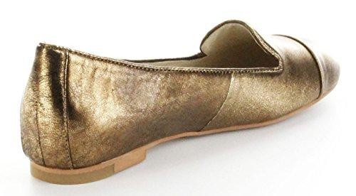 Josef Seibel Ballerinas gold Lederdeck Schlüpfer Damen Schuhe Minu 02 bronce Gold