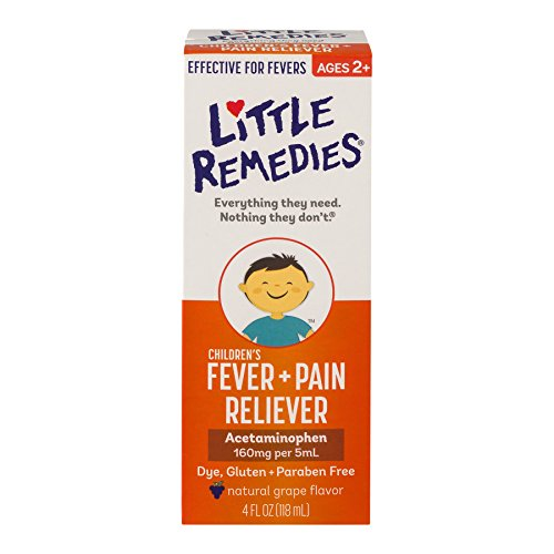 Little Remedies Fever Pain Reliever for Children, 4 Fluid Ounce