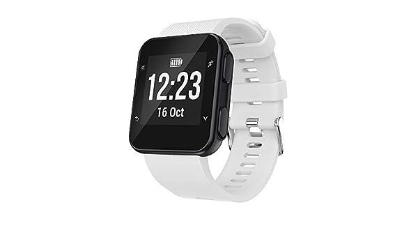 Amazon.com: Jewh Watchbands for Garmin - Garmin Watch Strap - Silicagel Soft Band Strap Buckle - Adjustable Replacement for Garmin Forerunner 35 Watch 230MM ...