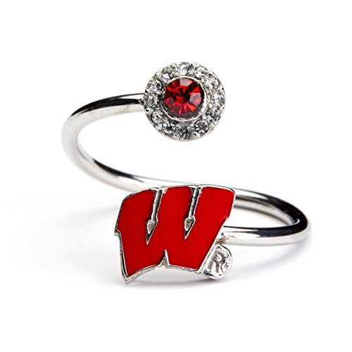 (Stone Armory University of Wisconsin Ring | UW Badgers Ring - Red Block W with Crystals | Wisconsin Gifts | Officially Licensed University of Wisconsin Jewelry | Wisconsin Jewelry)
