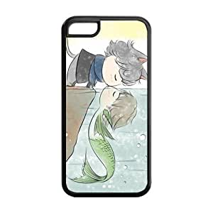 BESTER 5C Phone Cases, Cat Kiss Fish Hard Cover Case for iPhone 5C