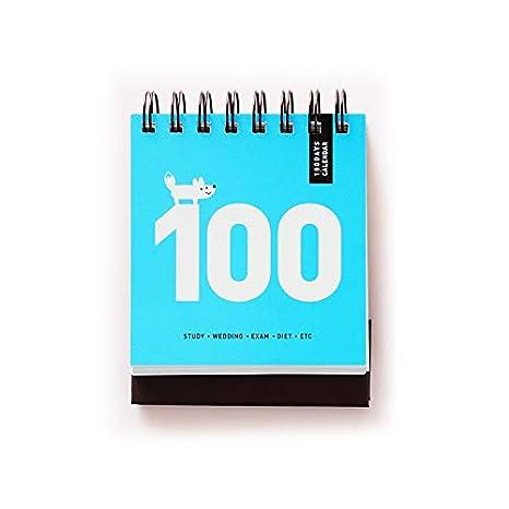 Amazon.com: Dunnomart - Calendario diario de 100 días de ...