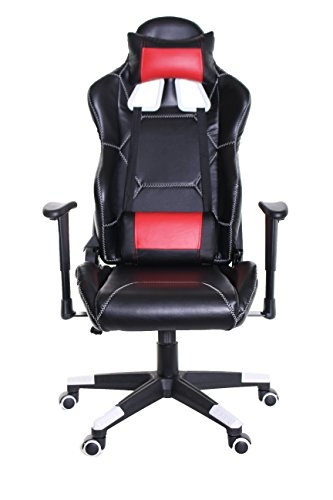 41kcAPwFanL - TimeOffice-Sport-Series-Ergonomic-Video-Gaming-Chair-Race-Car-Style-with-PU-leather-and-LumbarHead-Cushion-for-Computer-Gaming-and-Office-Working-BLACK