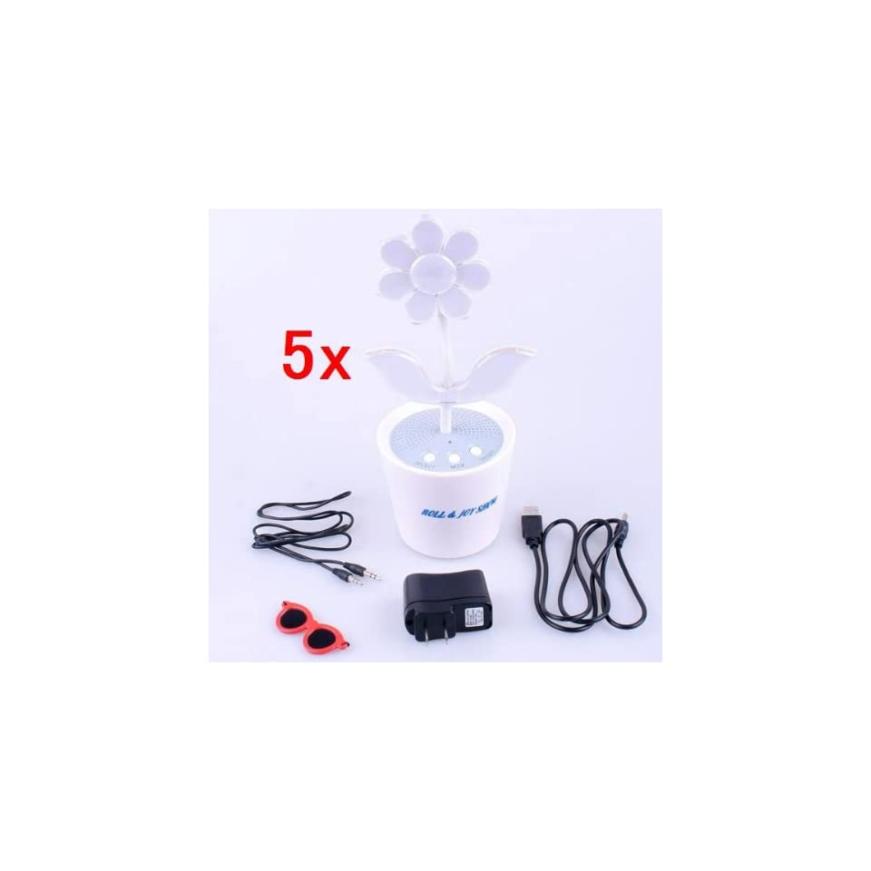 Neewer 5x Sound Activated LED Music Dancing Flower Stereo Speaker