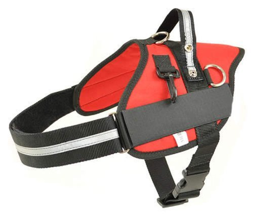Small Red Professional Service Dog Harness Girth 23\  26\  Redline K9