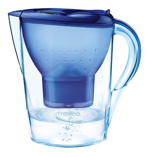 MAVEA 1009490 Marella Kompakt 5-Cup Water Filtration Pitcher, Blue