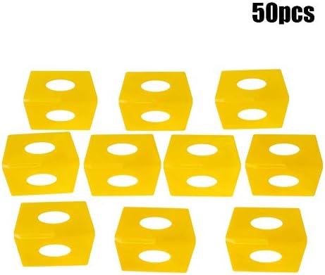 Yosoo 50pcs タイル タイル平準化システム 建設ツール プラスチック 実用 物理測定ツール (DD1.5-黄)