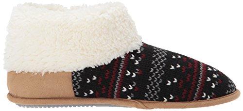 Women's Knit Black Patterned Dearfoams Bootie PnfXdEpPx