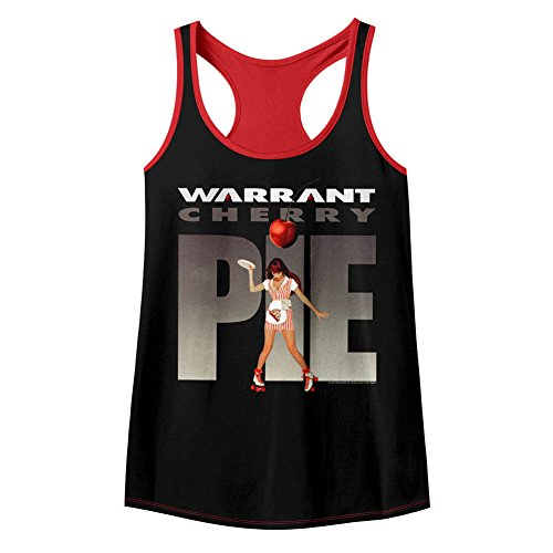 Warrant American Glam Metal Band Cherry Pie Womens Color Racerback Tank Top