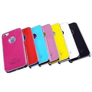 Antidesgaste cubierta de la caja PC trasero duro cristalino para el iPhone 5 5S: Azul