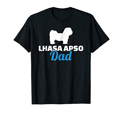 - Mens Lhasa Apso dad T-Shirt